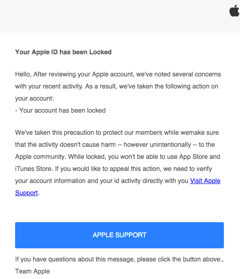 2019-06-25 Apple Spam-Mail Your account was used to sign in to iCloud on Microsoft Edge