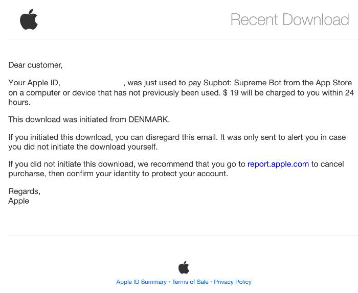 2019-06-26 Apple Fake-Mail Ihre Quittung von Apple