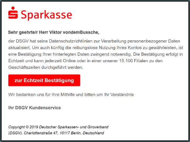 Berliner Sparkasse Karte Sperren.Sparkasse Spam Aktuell E Mail Sicherheitumstellung