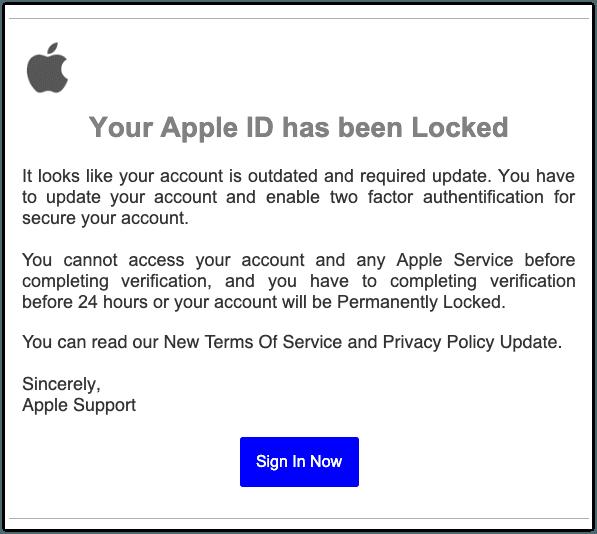 Apple-Phishing aktuell: Diese Spam-Mails stehlen Ihre Daten