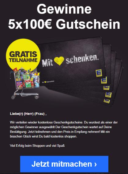 2019-07-24 Edeka Gutschein 100 Euro Spam-Mail