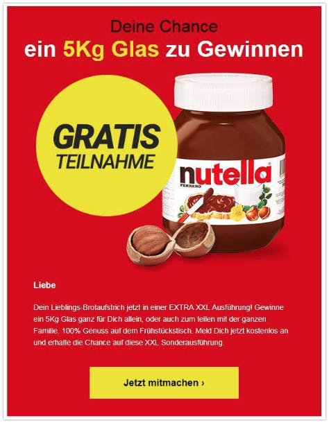 2019-09-25 Datensammler Gewinnspiel Nutella Probierpaket