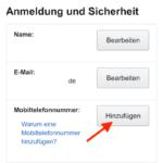 Amazon Telefonnummer ergaenzen iPhone