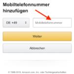 Amazon Telefonnummer ergänzen iPhone