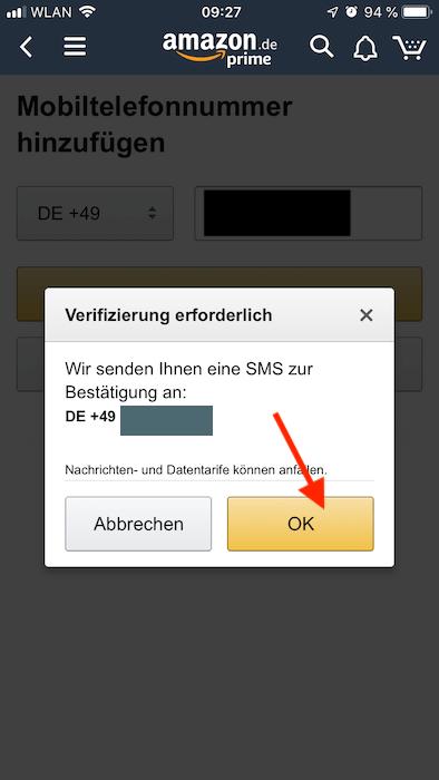 Amazon Rufnummer
