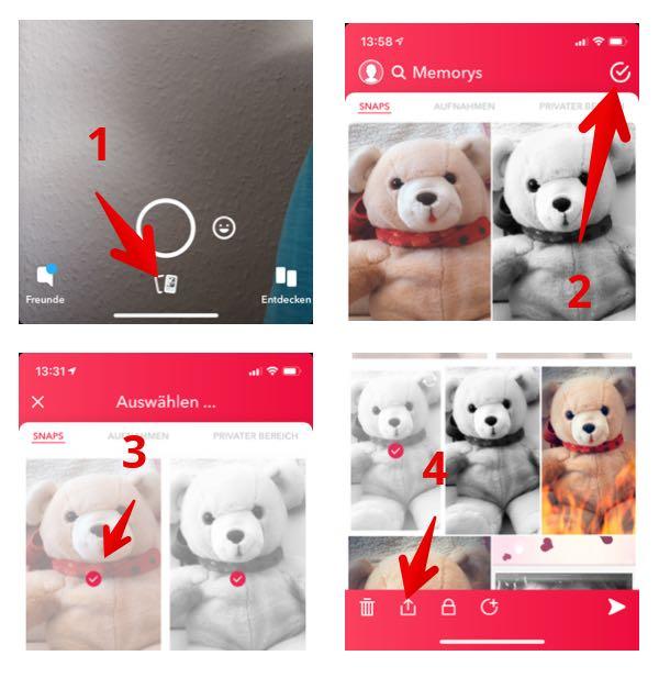 Anleitung Snapchat Memorys speichern