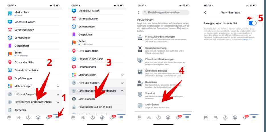 Facebook App Online Status Verbergen