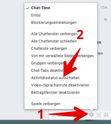 Facebook messenger zuletzt aktiv wird nicht angezeigt