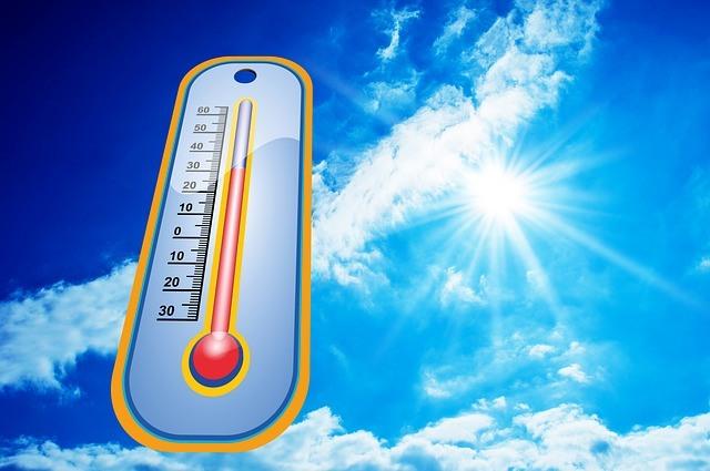 Sommer Warm Hitze Temperatur Symbolbild