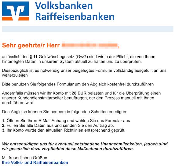 2019-07-04 Phishing Volksbank