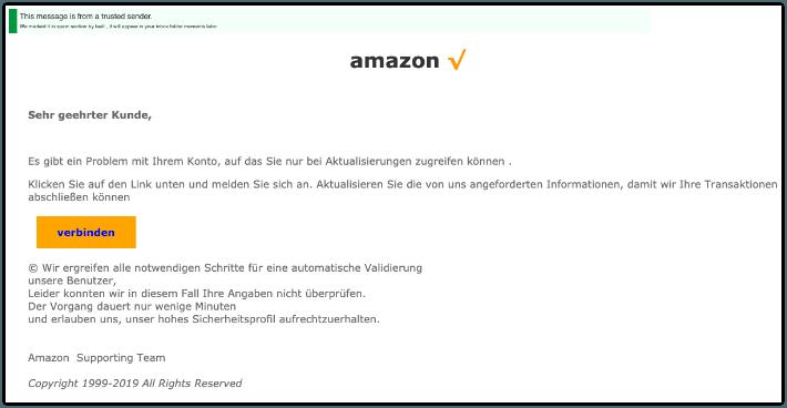 2019-07-06 Amazon Spam-Mail Neue Benachrichtigung