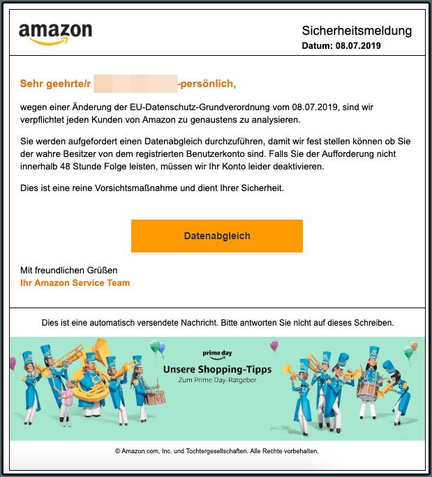 2019-07-08 Phishing Amazon