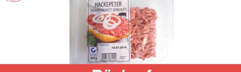 Hackepeter von Netto zurückgerufen: Schweinemett gewürzt