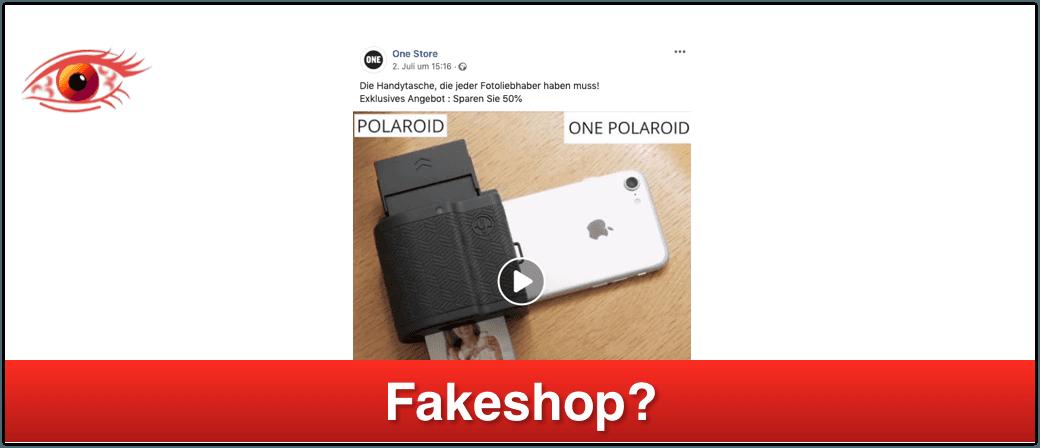 2019-07-11 onepolaroid.com unter Fakeshop-Verdacht