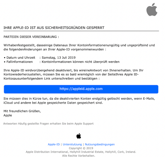 2019-07-13 Phishing Apple