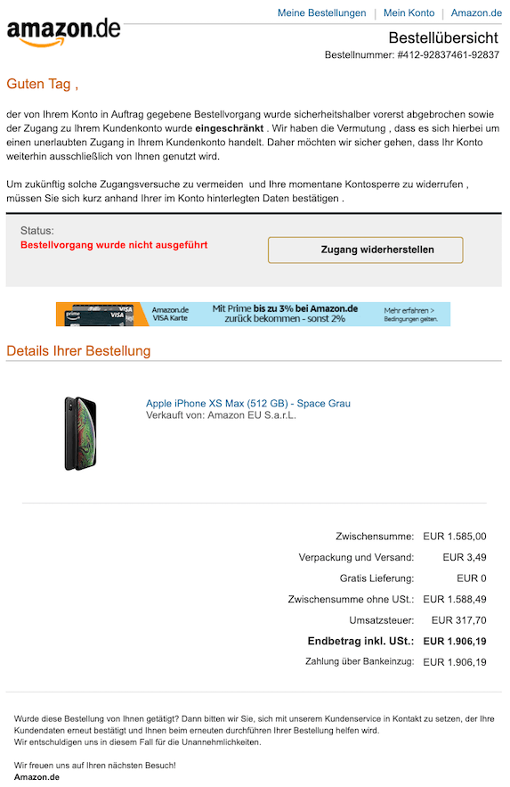 2019-07-14 Phishing Amazon