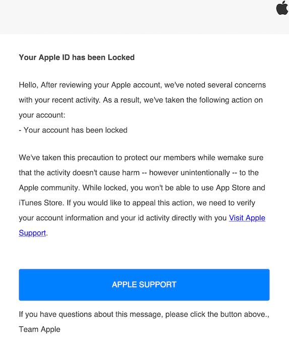 2019-07-19 Phishing Apple