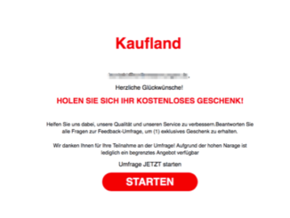 2019-07-20 Fake-Mail im Namen von Kaufland