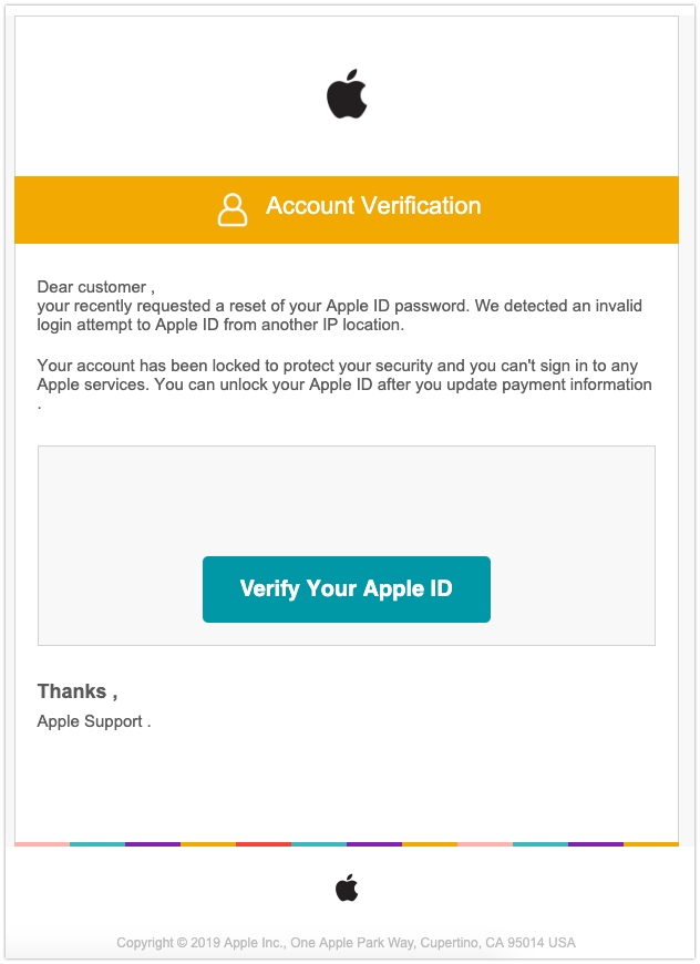 2019-07-22 Phishing Apple