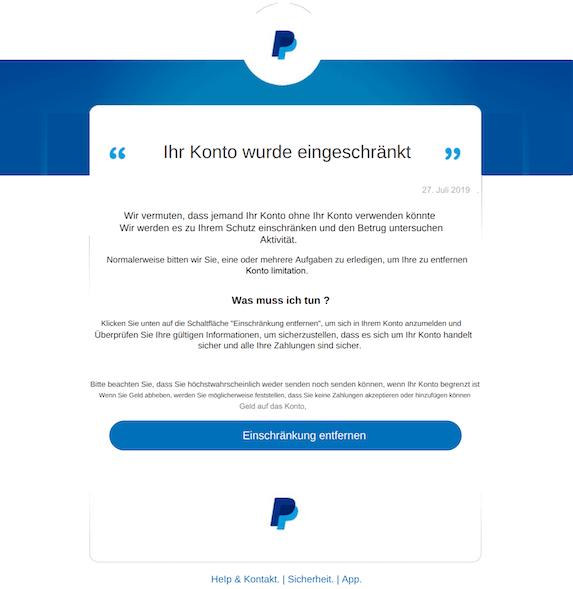 2019-07-27 Phishing PayPal