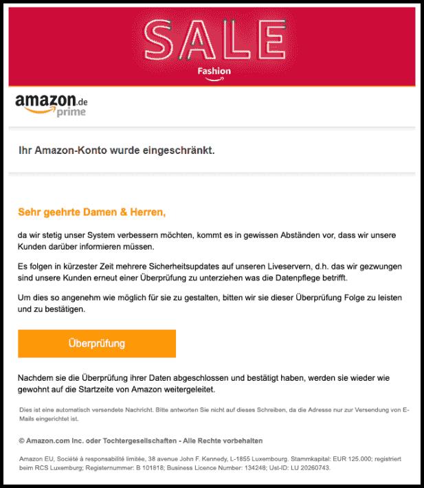Amazon Mail Fake