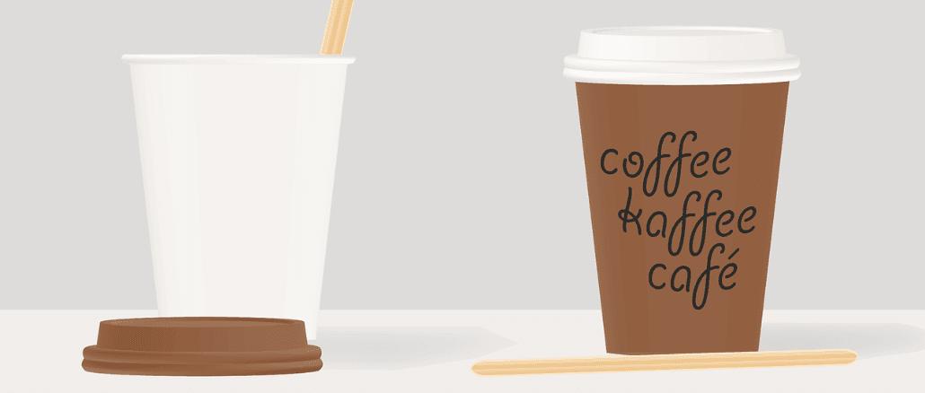 Coffee to go Becher Symbolbild