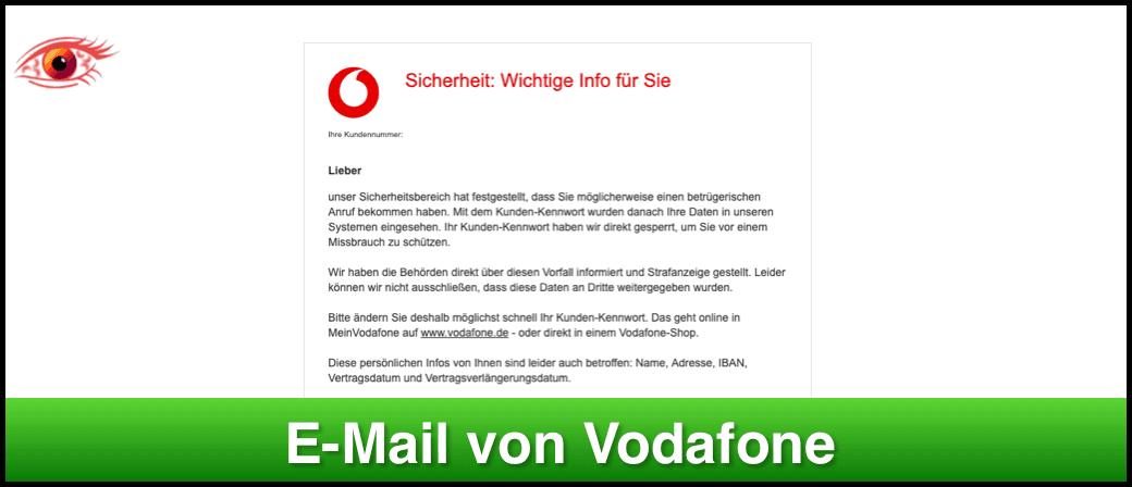 Entwarnung Vodafone-Mail Sicherheit- Wichtige Info für Sie