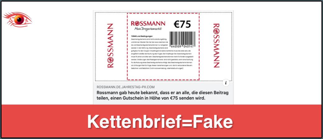 Facebook Rossmann Gutschein 75 Euro_Logo