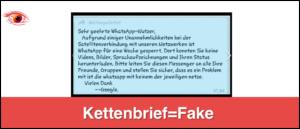Kettenbrief Ausfall WhatsApp Facebok