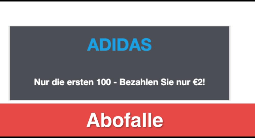 E-Mail: Adidas Gutschein im Wert von 100 Euro ist eine Abofalle