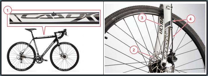Rückruf Cannondale CAADX Cyclocross-Bike