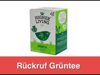 Rückruf Gruentee dennree GmbH
