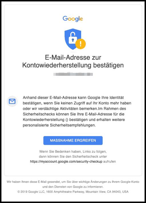 2019-08-01 Google E-Mail Helfen Sie uns beim Schutz Ihres Kontos- Sicherheitshinweis von Google