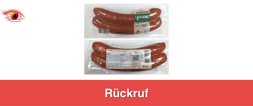 2019-08-01 Rückruf Hofmaier Wurst (Titelbild)