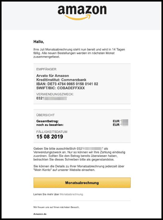 2019-08-05 Amazon Monatsabrechnung Muster