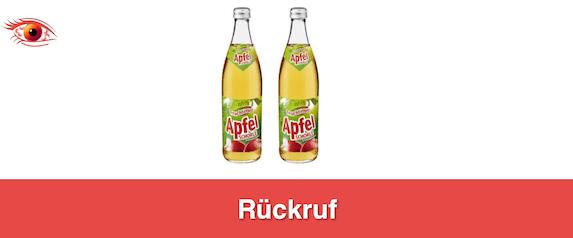 2019-08-06 Netto Apfelschorle Rueckruf klein