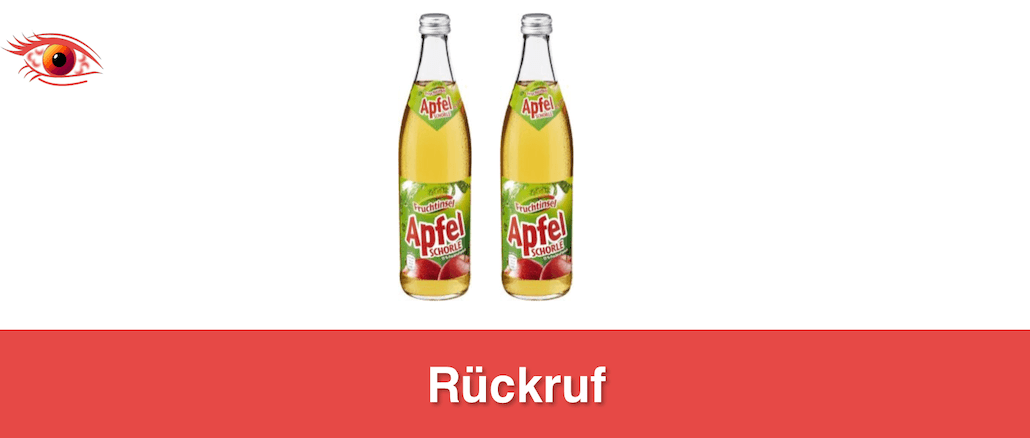 2019-08-06 Netto Apfelschorle Rueckruf