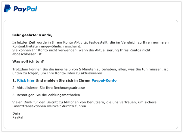 2019-08-06 PayPal Spam-Mail AW