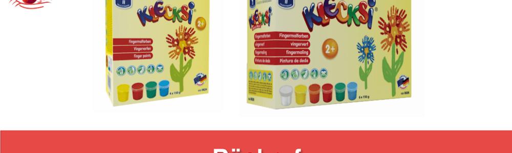 """Rückruf: Gefährlicher Keim in Fingermalfarben """"KLECKSi"""""""