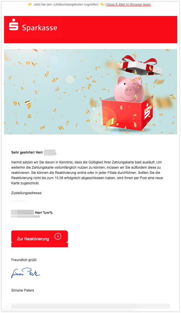 2019-08-08 Phishing sparkasse