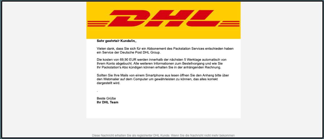 """DHL: E-Mail """"Ihre offene Rechnung"""" ist Spam - Anhang nicht"""