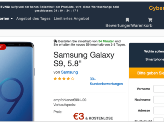 2019-08-12 Fake-Seite im Namen von Amazon Kostenfalle