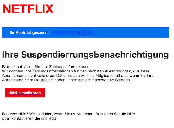 2019-08-22 Phishing Netflix