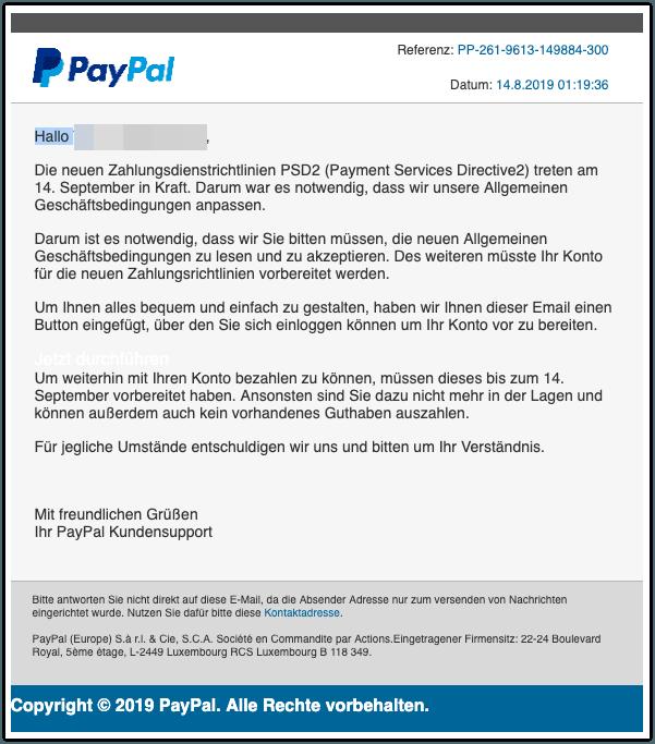 2019-08-22 Phishing PayPal