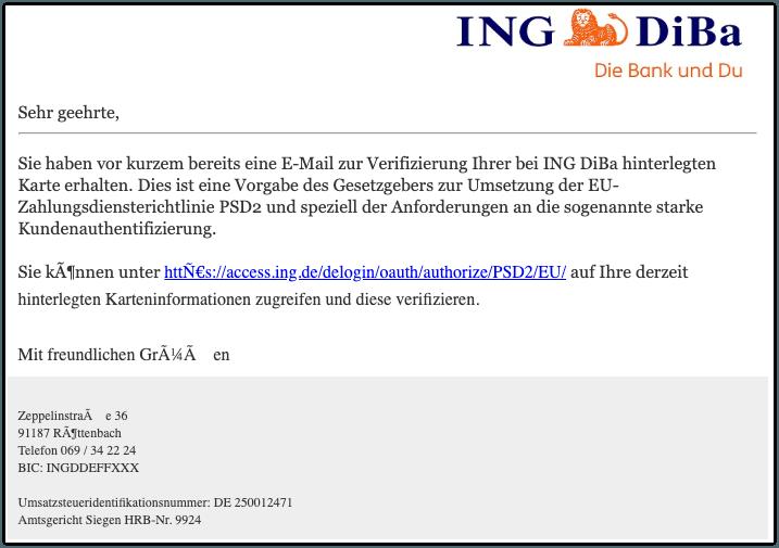 2019-08-26 ING Diba Spam-Mail PSD2
