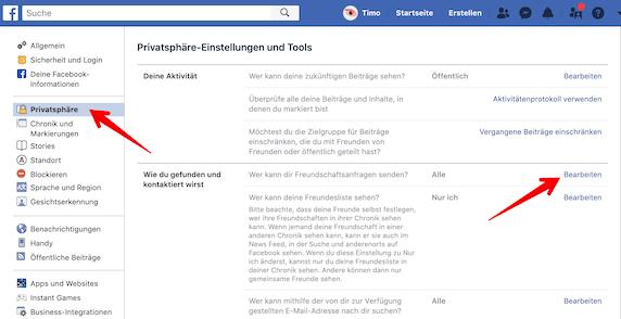 Sichtbar facebook freundschaftsanfrage nicht Facebook Freundschaftsanfragen