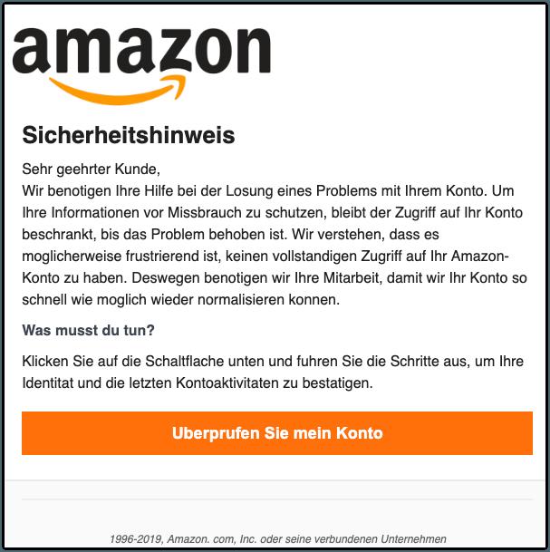 2019-08-30 Phishing Amazon