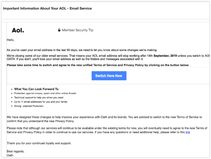 2019-09-09 AOL Phishing-Mail