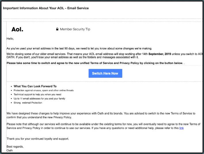2019-09-09 AOL Phishing-Mail