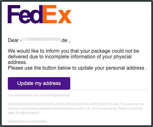 2019-09-16 Spam Fedex
